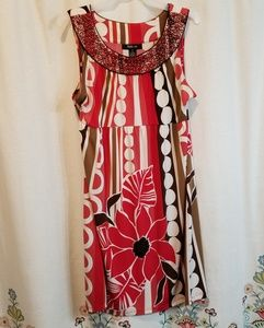 Style and co beaded dress floral
